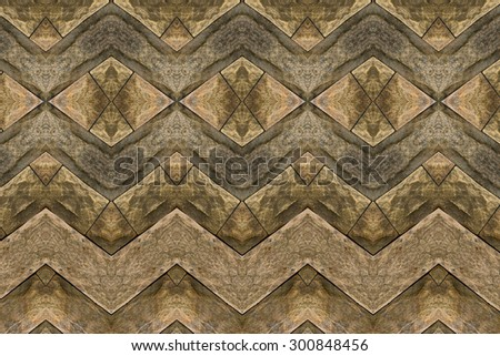 Carved wood wall close - stock photo