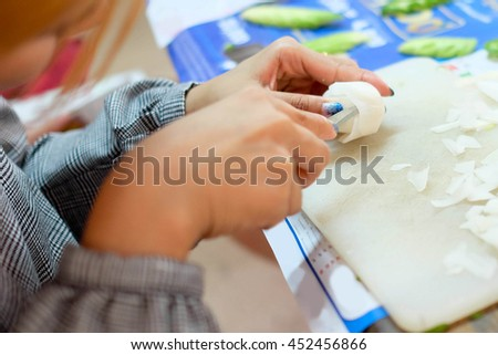 carving rose from radish