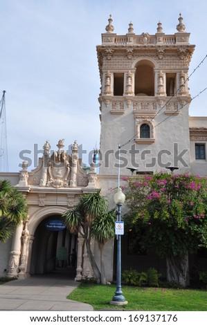 Casa del Prado at Balboa Park in San Diego, California - stock photo