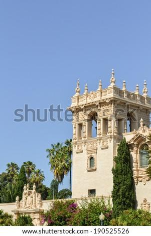 Casa del Prado Building, Balboa Park, San Diego, CA - stock photo