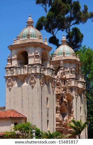 Casa del Prado in San Diego's Balboa Park - stock photo