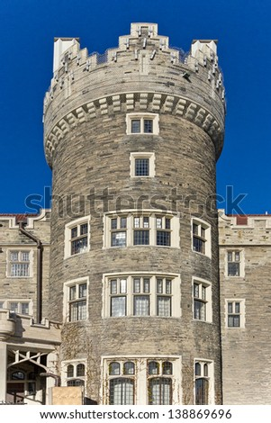 Casa Loma in Toronto - Central Tower - stock photo