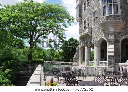 Casa Loma Patio in Toronto, Canada - stock photo