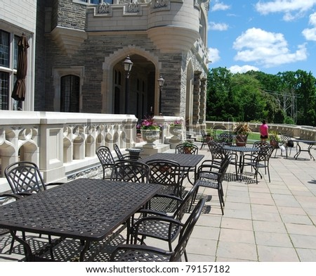 Casa Loma Patio in Toronto, Canada - stock photo
