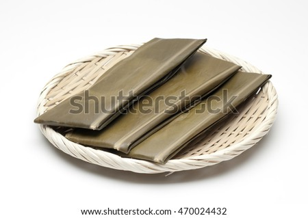 CASAMUCHI  rice cakes wrapped in Alpinia zerumbet leaf traditional okinawan