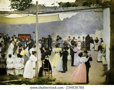 CASAS i CARBO, Ramon (1866-1932), Evening Dance, 1896, Barcelona, Liceu Circle