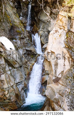 Cascade at Mount Rainier National Park - stock photo