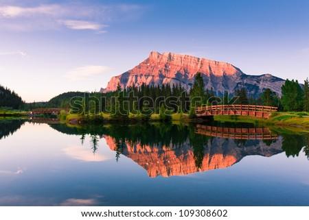 Cascade Ponds, Banff, Alberta, Canada - stock photo