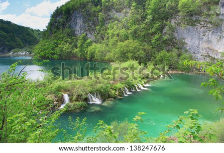 Cascades at Plitvice lakes