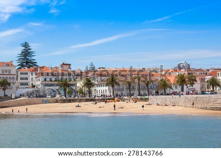 Cascais beach near Lisbon in Portugal - stock photo