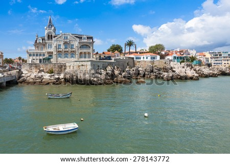 Cascais waterftont near Lisbon in Portugal - stock photo