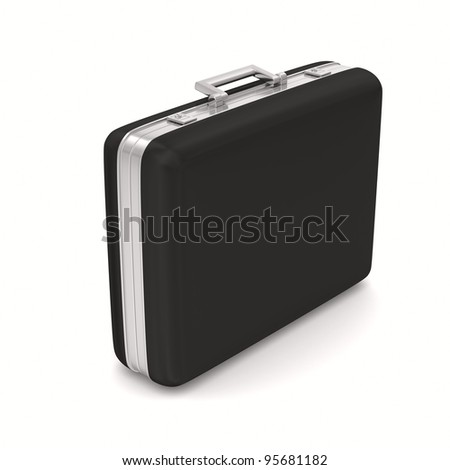 Case on white background. isolated  3D image