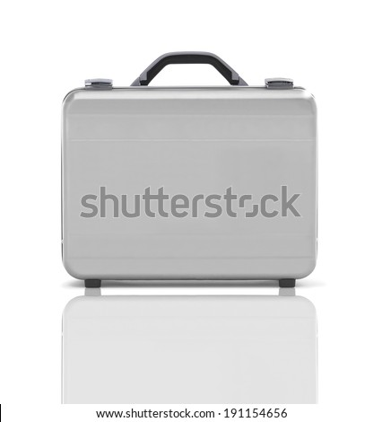 Case with reflection on white background - clipping path