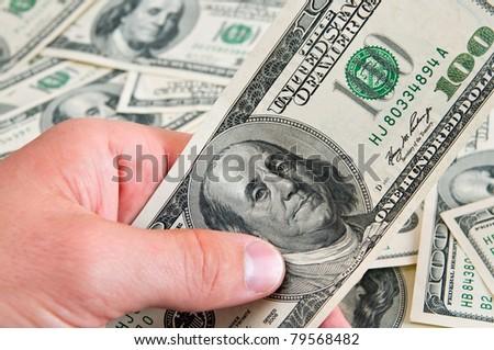 cash american dollars - stock photo