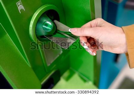 cash card - stock photo