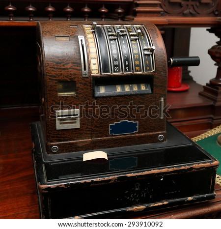 Cash desk - stock photo