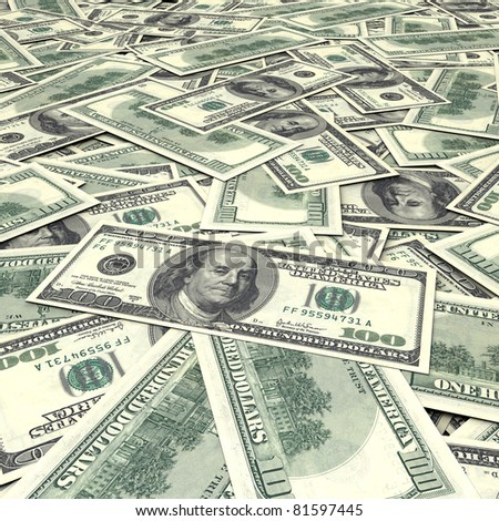 Cash dollar signs. Texture - stock photo