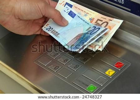 cash point - stock photo
