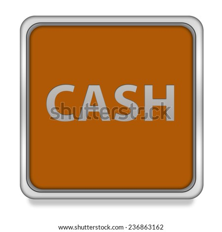 Cash square icon on white background