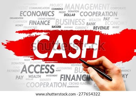 CASH word cloud, business concept - stock photo