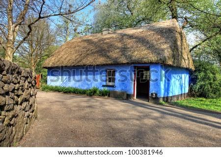 Cashen Fisherman's House in Bunratty Castle & Folk Park - Ireland. - stock photo