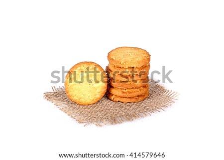 cashew cookies, cookies, cookies on white, handmade cookies, handmade cashew cookies, kaju cookies, kaju biscuit - stock photo