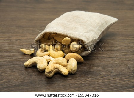 cashew nuts - stock photo