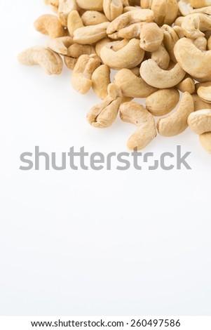 cashews isolated on white background - stock photo