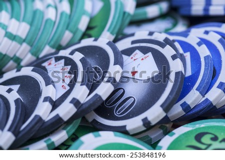 Casino chips- gambling concept  - stock photo
