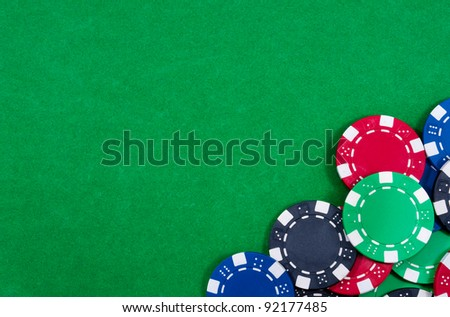 Casino chips. Photo of attributes gambling - stock photo