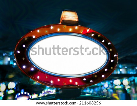 Casino display background. Copy space - stock photo
