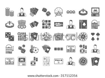 Casino icon.  Illustration isolated on white background. - stock photo