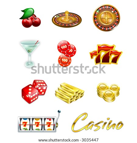 Casino Icons set - stock photo