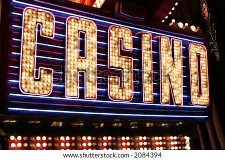 Casino neon sign - stock photo
