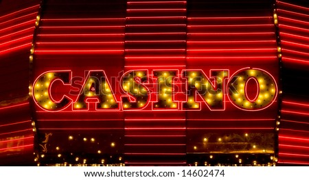 Casino neon sign, Las Vegas - stock photo