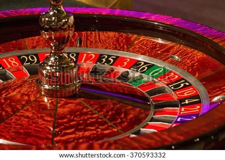 casino roulette - closeup - stock photo