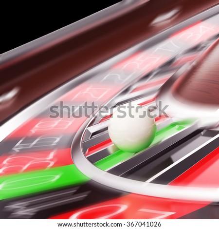 Casino Roulette closeup in motion. - stock photo