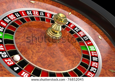 Casino roulette. Computer generated image - stock photo