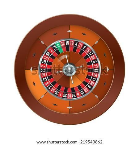 Casino Roulette isolated on white. illustration - stock photo