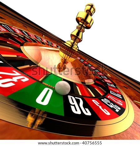 Casino Roulette on white