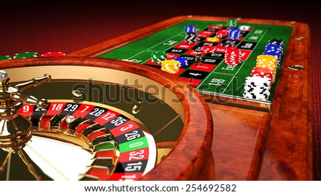 Casino Roulette Table - stock photo