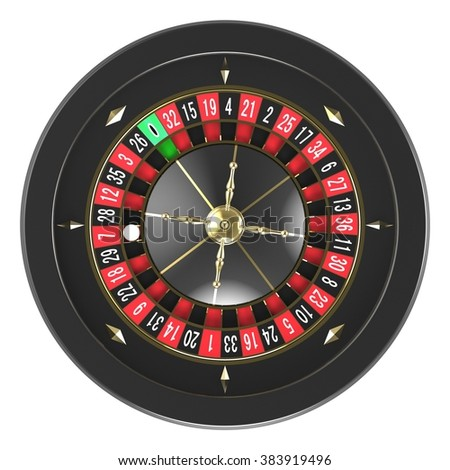 Casino roulette wheel - stock photo