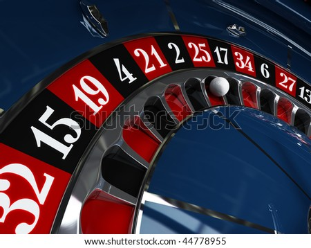 Casino, roulette wheel - stock photo