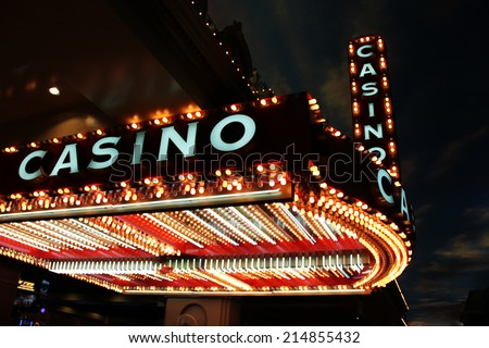 Casino sign - stock photo