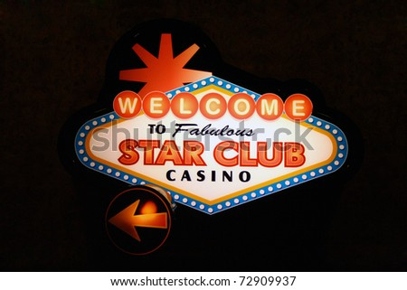 Casino sign lighted up - stock photo