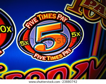 casino slot machine which is colorful and fun to play - stock photo