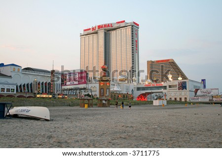 Casinos in Atlantic City New Jersey - stock photo