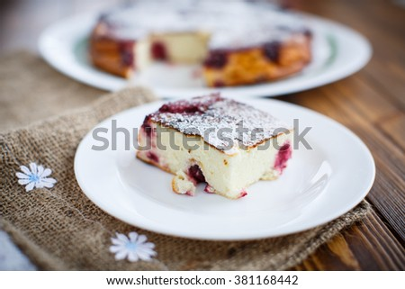 casserole cottage cheese - stock photo