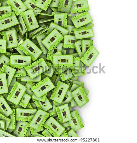 Cassette spill - stock photo