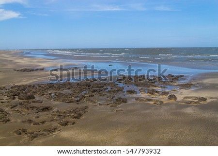 Cassino beach at Rio Grande city, Rio Grande do Sul, Brazil.